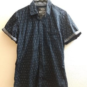 Other - Music note short sleeve button down